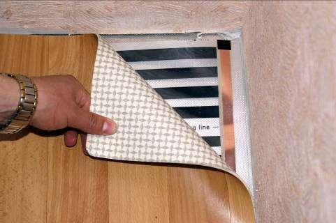 Укладка линолеума поверх термопленки