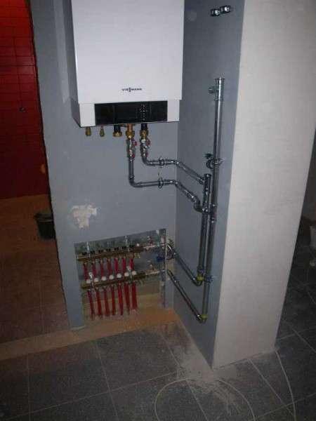 Подключенный газовый котел