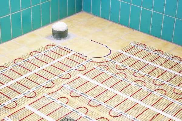 Распределение элементов электроподогрева на полу