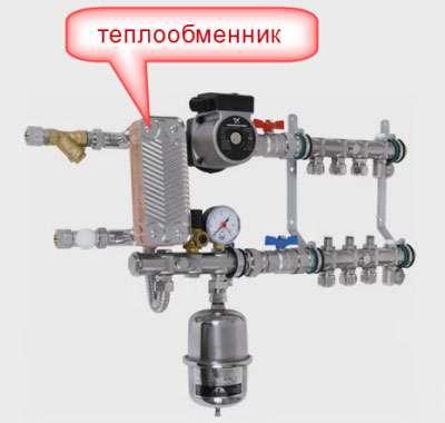 Схема теплого пола с теплообменником ремонт теплообменника в смете