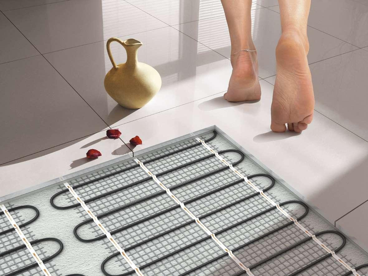 Обогрев ванной комнаты теплыми полами