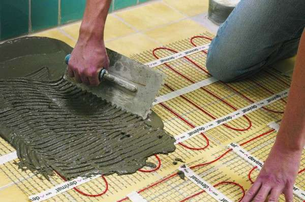 Заливка стяжки на кабельный теплый пол