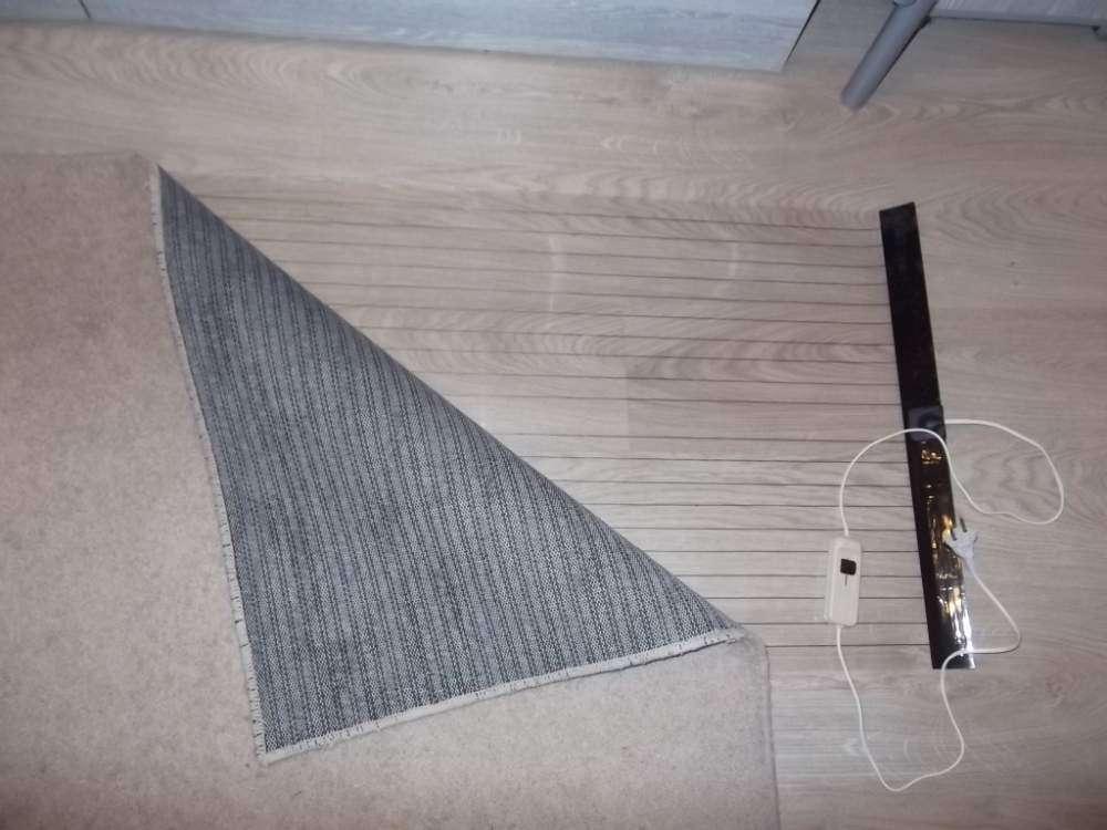 Организация обогрева ковров мобильным теплым полом