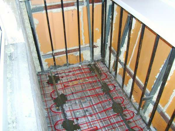 Электрический обогрев на балконе