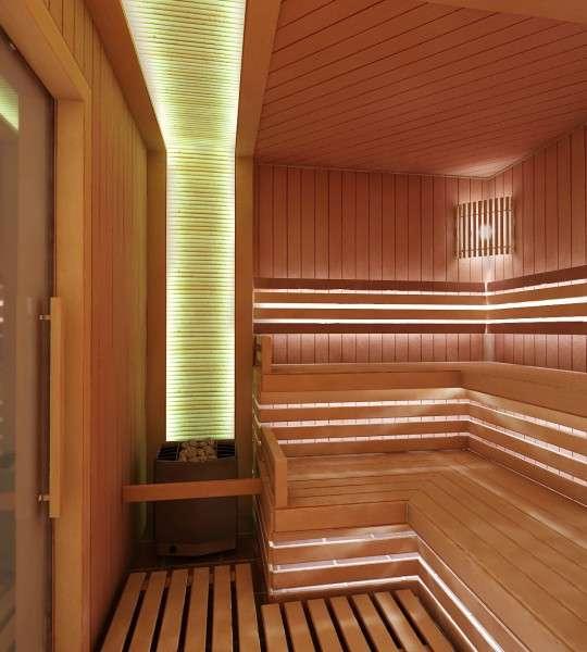 Помещение бани, оборудованной теплым полом
