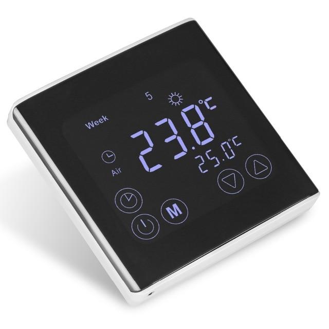 BYC17GH3 ЖК-дисплей Сенсорный экран номер теплые полы Термостат Еженедельный программируемый терморегулятор Температура контроллер