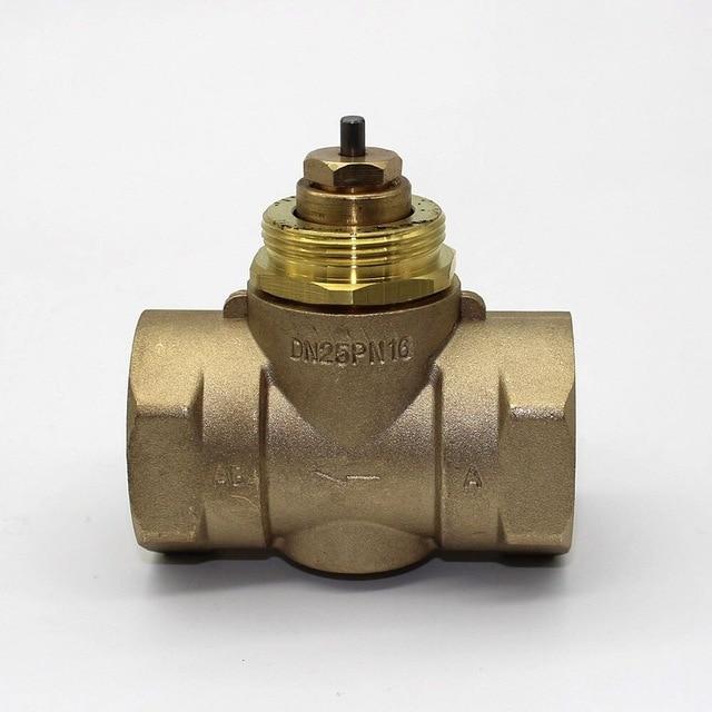 Латунь двусторонний клапан DN25 Электрический Термальность привод клапана M30 x 1,5 для Термальность привод и Термостатические клапан