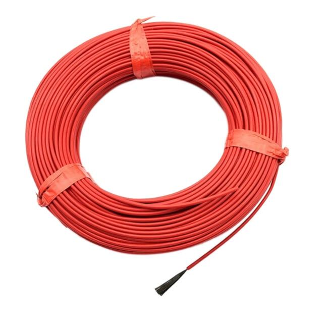 Мм 1 рулон 20 м 12 К 33ом 2,0 мм карбоновый теплый напольный кабель из углеродного волокна нагревательный провод электрическая Горячая линия Новый инфракрасный нагревательный кабель