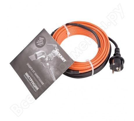 Греющий кабель саморегулирующийся для обогрева труб REXANT пищевой 10HTM2-CT 51-0604